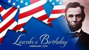 No School - Lincoln's Birthday